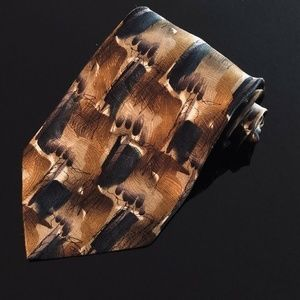 J. Garcia Men's Necktie 100% Silk Carousel Brown(L